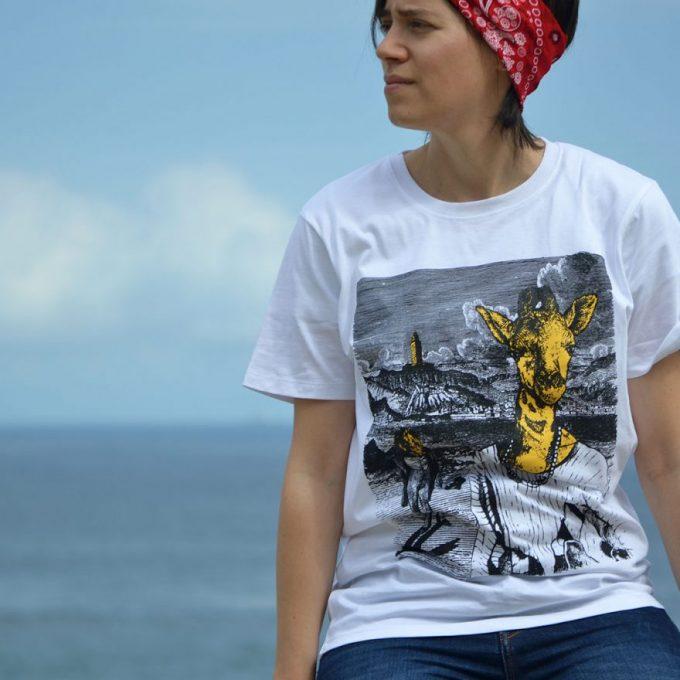camiseta-hombre-mujer-jirafa-coruna-africa