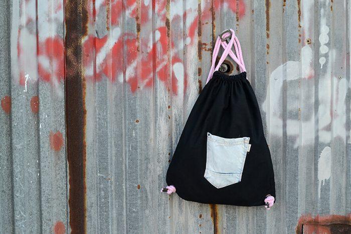 mochila saco reciclada