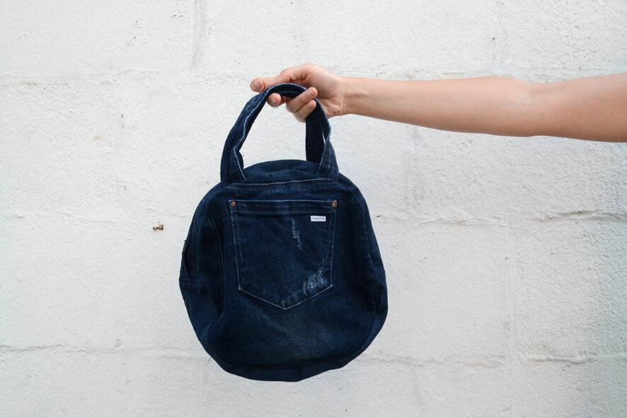 bolso vaquero azul oscuro